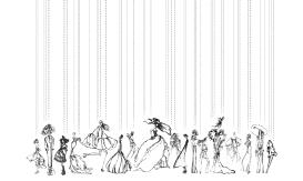 Fashion procession blog print
